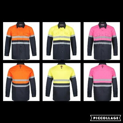 CutiesByZootys Hi Vis Children's Work Shirts 100% Cotton Range of Colours & Size
