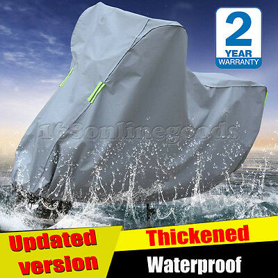 Waterproof Motorcycle Cover Outdoor Motorbike Breathable Vented Grey - Rain -XXL