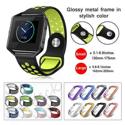Sport Silicone Replacement Strap Band Frame for Fitbit Blaze Smart Fitness Watch