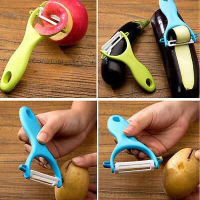 Potato Peeler Vegetable Fruit  Slicer Ceramic Blade Speed Professional Tool
