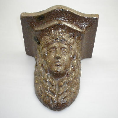 Vintage Wall Mount In The Form Of A Classical Face Possibly Made By Wunderlich