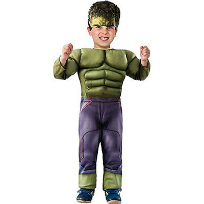 Marvel Avengers Hero HULK Muscle Chest Jumpsuit Toddler Boys Child Costume 2-4