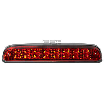 Fit 99-16 Ford Super Duty 2-Row LED Rear Third 3rd Tail Brake Light Lamp Red