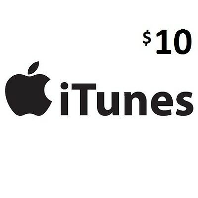 $10 iTunes, Genuine, Australian Store Only, Music,Movies,Books,Apps and More