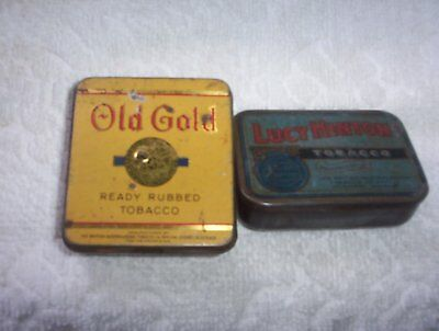 Old Gold & Lucy Hinton Tobacco Tins