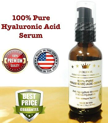 100% Pure HYALURONIC ACID SERUM-Collagen PEAUDOR/Anti Aging/Wrinkle/Firming