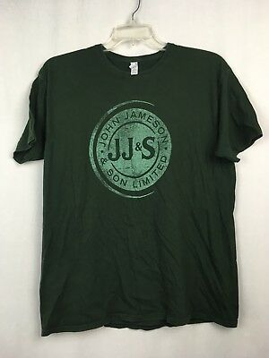 Jameson Irish Whiskey JJ&S Tee Green T-shirt Short Sleeve Soft Sz XL Extra Large