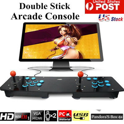 Double Arcade Stick Video Game Joystick Controller Arcade Console For PC USB USA