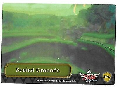 The Legend Of Zelda Trading Cards 106-Sealed Ground  (Silver Foil Puzzle) Ingles