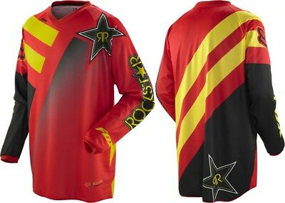 Fox Racing Youth Xl Rockstar Motorcross Mx Hc Jersey Red Yellow Bnwt