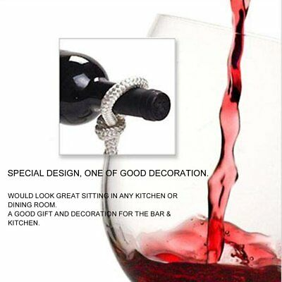 Practical Magic Rope Design Red Wine Rack Suspension Red Wine Bottle Holder YID