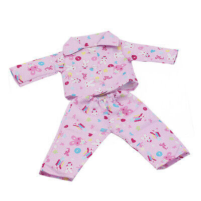 "Handmade Pink Pajamas fit 18"" American Girl & Our Generation Dolls Clothes"