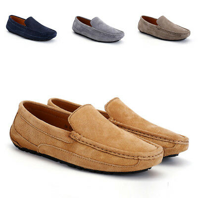 Fashion Men's Driving Moccasin Loafer New Suede Slip On Casual Comfort Flat Boat