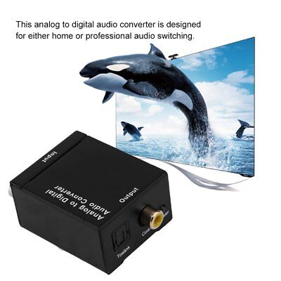 Analog Audio to Digital Optical Coax Toslink Voice Adapter Sound Converter LK S4