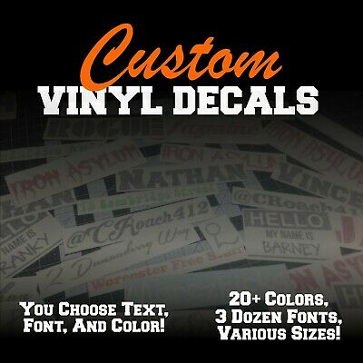 CUSTOM Vinyl Lettering Decal  Personalized Sticker Window Wall Text City Name