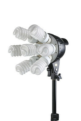 LuxLight Single Seven Bulb Softbox Kit | 60x90cm | Photography Studio CFL Set