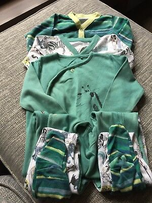 Set Of 3 9-12 Months Next Sleepsuits