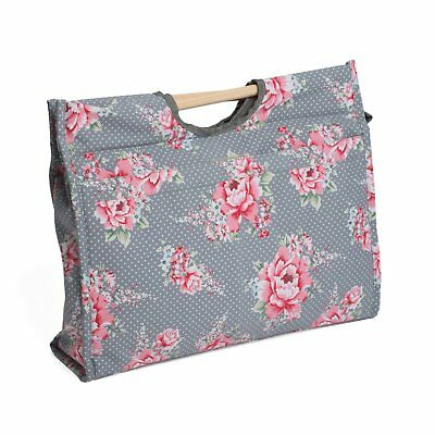 Hobbygift Groves Exclusive Print Collection Craft Bag with Wooden Handles,