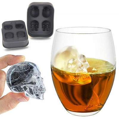 1Pc Skull Ice Molds Cocktails Whisky Cube Tray Halloween Party Spooky Mould Tool