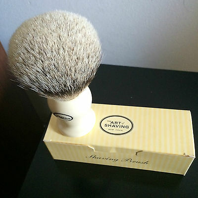 The Art Of Shaving Silvertip Badger Ivory Pennello Barba Tasso #5 Grande Big