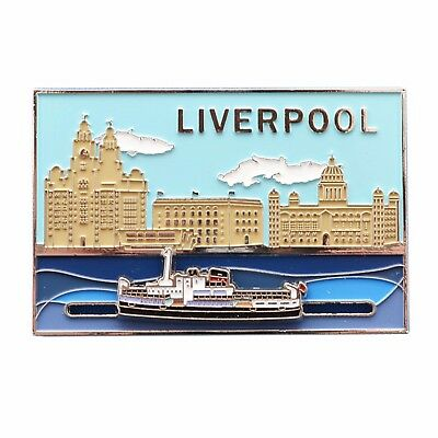 Liverpool Waterfront Three Graces Sliding Fridge Magnet Gift Souvenir