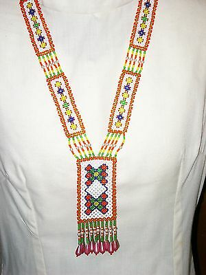 """""""""""native American Design - Seed Bead - Woven Necklace"""""""""""