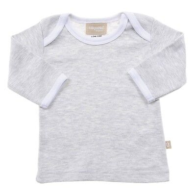 Babyushka Organic Essentials Long Sleeve Marl Grey Top