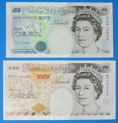 Bank Of England ~ £ 5 & 10 ~ Kentfield ~ Crispy