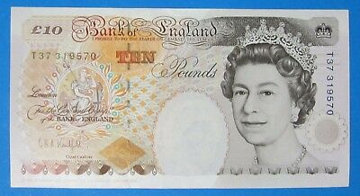 Bank Of England ~ £10 ~ Kentfield ~ Crispy Uncirculated - T37 319570