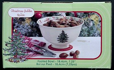 """Spode Christmas Jubilee 7.25"""" Footed Bowl"""