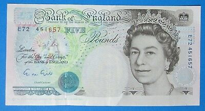 Bank Of England ~ £5 ~ Gill ~ Crispy - About Uncirculated - E72 451657