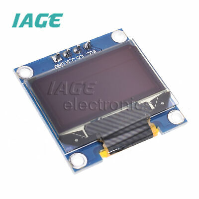 "0.96"" I2C IIC Serial 128X64 128*64 White OLED LCD LED Anzeigen Modul for Arduino"