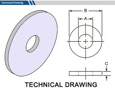 Gasket outside diameter 50mm, thickness 1mm (select inside dia, material, pack)