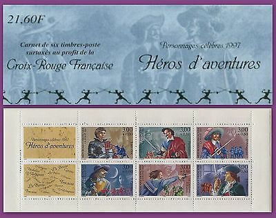 France 1997 Carnet Bc 3121** Litterature Heros Aventure Booklet Mnh