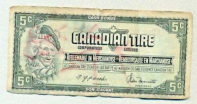 Canadian Tire Cash Bonus 5 Cents Certificate