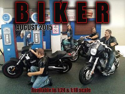 Biker Set of FOUR (4) FIGURES - 1/18 scale figure-AMERICAN DIORAMA-Figures ONLY