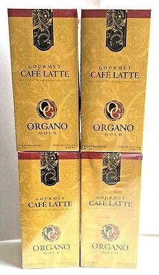 4 boxes of Organo Gold Gourmet Café Latte with Ganoderma (Lingzhi)