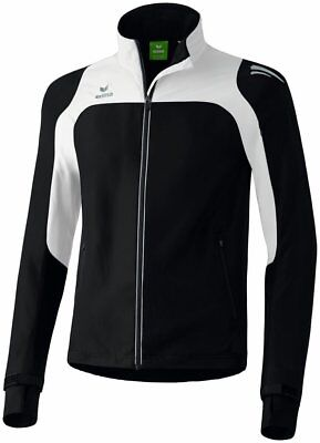 Erima Kids Race Line Sports Running Full Zip Jacket Track Top Waterproof Black .