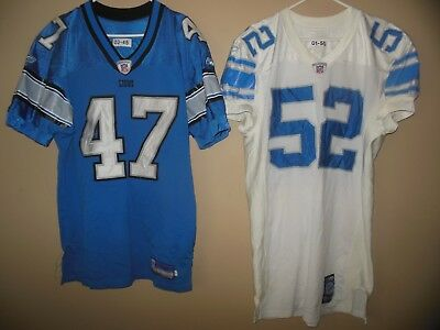 Detroit Lions Game Used Nfl Football Jersey