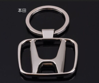 NEW hot Honda Car keychain KeyRing STAINLESS CAR LOGO FOB KEY RING KEY CHAIN