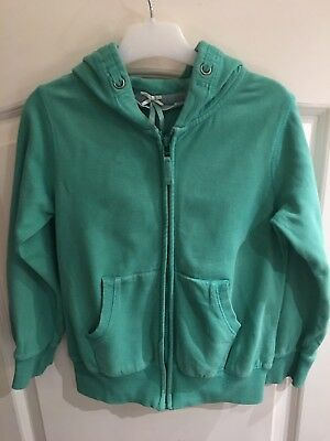 Next Girls Hoodie Age 7 Years Apple Green 100% Cotton