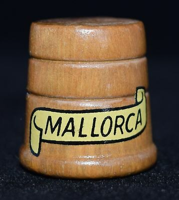 Souvenir wooden thimble from Mallorca