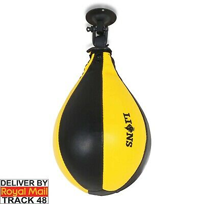 MMA Boxing Pear Shape Speed Ball & Swivel Punch Bag Punching Training Speedball