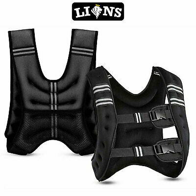5, 8 & 10kg Weighted Vest Home Gym Running Fitness Weight loss Strength Jacket