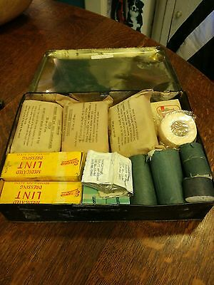 Vintage 1970's Military first aid kit complete