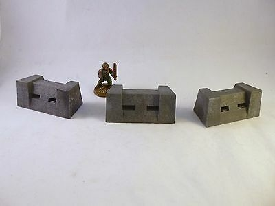 40k Flames of War Drop Zone Commander Compatible Bunkers Scenery Terrain