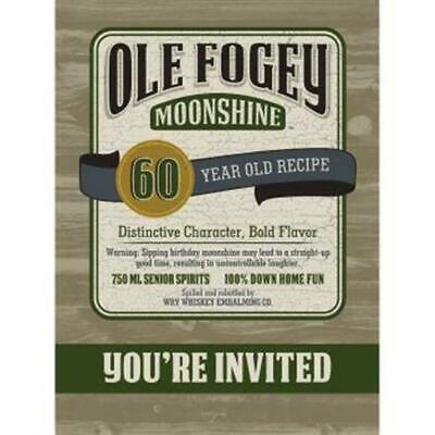 Ole Fogey 60th Birthday Postcard Invitations 8 Pack Party Decoration