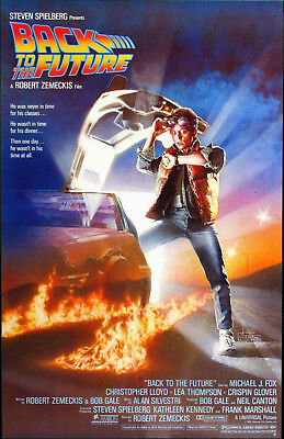 Back To The Future Movie Poster 27X40 Michael J Fox Free Shipping