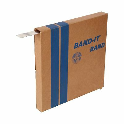 """BAND-IT C20599 201 Stainless Steel Bright Annealed Finish Band 5/8"""" Width X 0..."""