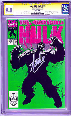 The Incredible Hulk #377 (Jan 1991, Marvel) CGC 9.8 Signed by Stan Lee 1st Print